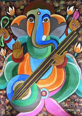 Lord Ganesha Poster by Jyoti Vats
