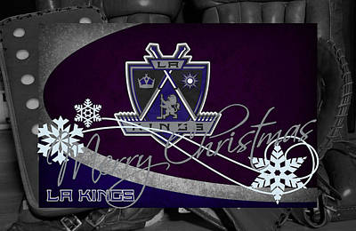 Los Angeles Kings Christmas Poster by Joe Hamilton