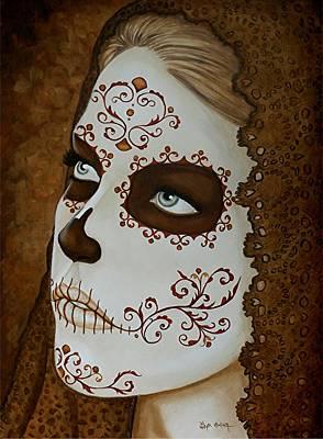 Los Ojos De La Belleza Detras Del Velo Poster by Al  Molina