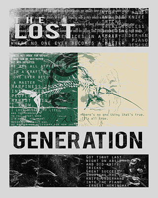 Lost Generation Writers Poster by Pop Culture Prophet