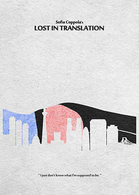Lost In Translation Poster by Ayse Deniz