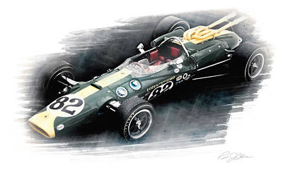 Lotus 38 Poster by Peter Chilelli