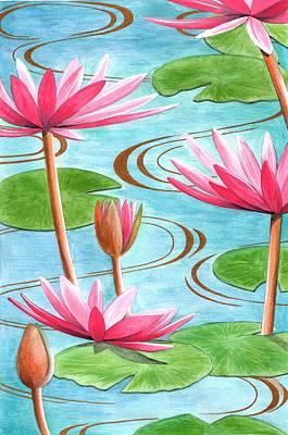 Lotus Flower Poster by Jenny Barnard