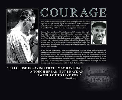 Lou Gehrig Courage  Poster by Retro Images Archive
