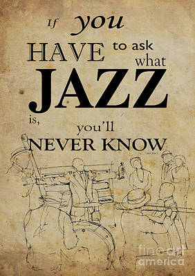 Louis Armstrong Drawing And Quote Poster by Pablo Franchi