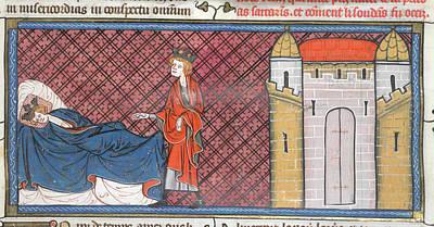 Louis Ix Captured At Mansurah Poster by British Library