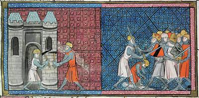 Louis Vii And Emperor Conrad IIi Poster by British Library
