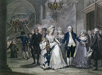 Louis Xvi 1754-93 Bidding Farewell To His Family, 20th January 1793, Engraved By Reinier Vinkeles Poster by French School