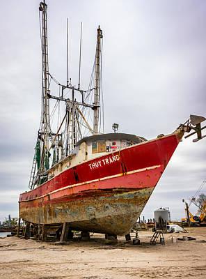 Louisiana Shrimp Boat 2 Poster by Steve Harrington