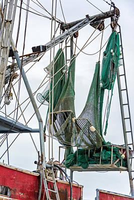 Louisiana Shrimp Boat Nets Poster by Steve Harrington