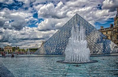 Louvre And Pyramid Poster by Oleg Koryagin