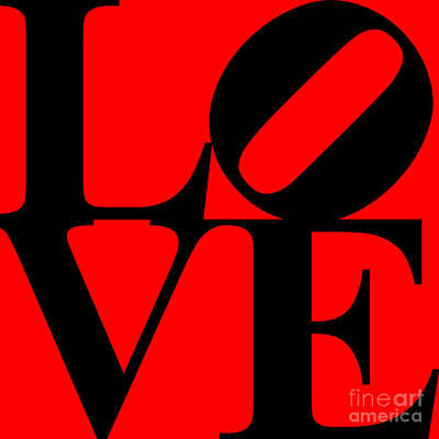 Love 20130707 Black Red Poster by Wingsdomain Art and Photography