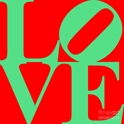 Love 20130707 Green Red Poster by Wingsdomain Art and Photography