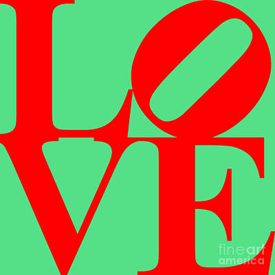 Love 20130707 Red Green Poster by Wingsdomain Art and Photography