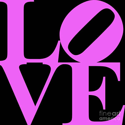 Love 20130707 Violet Black Poster by Wingsdomain Art and Photography