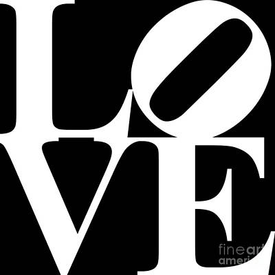 Love 20130707 White Black Poster by Wingsdomain Art and Photography