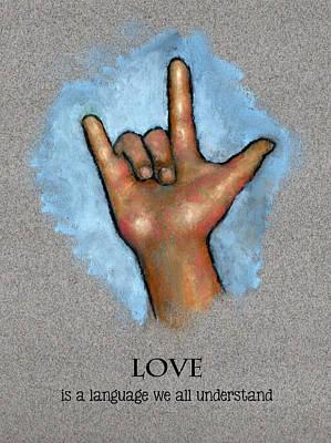Love Language Sign Language Poster by Joyce Geleynse