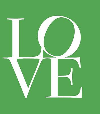 Love On Green Poster by Dan Sproul