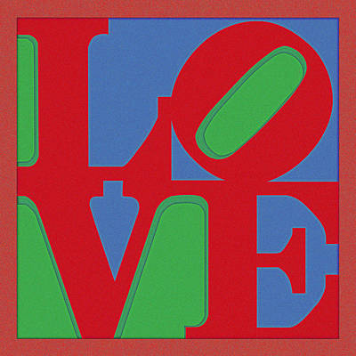 Love Poster Poster by Celestial Images
