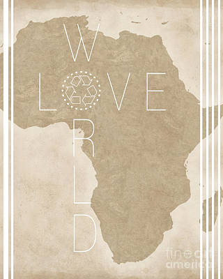 Love The World Poster by Liesl Marelli