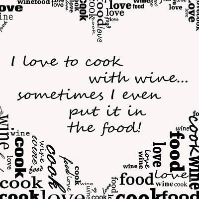 Love To Cook Poster by Mair Hunt