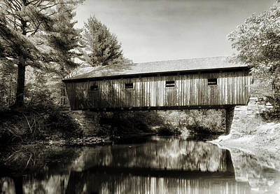 Lovejoy Covered Bridge Maine 1984 Poster by Mountain Dreams