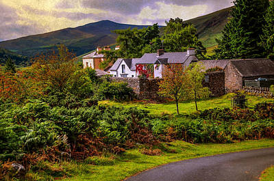 Lovely Homestead In Wicklow. Ireland Poster by Jenny Rainbow