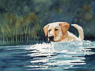 Loves The Water Poster by Marilyn Jacobson