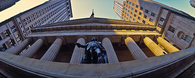 Low Angle View Of A Stock Exchange Poster by Panoramic Images