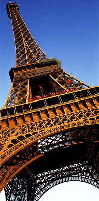 Low Angle View Of A Tower, Eiffel Poster by Panoramic Images