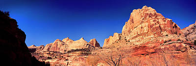 Low Angle View Of Cliff In Capitol Reef Poster by Panoramic Images