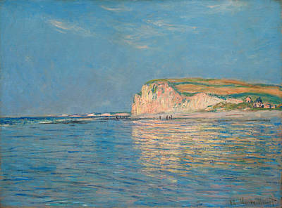Low Tide At Pourville Poster by Claude Monet