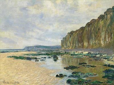 Low Tide At Varengeville Poster by Claude Monet
