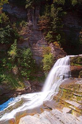 Lucifer Falls II In Robert H. Treman State Park New York Poster by Paul Ge