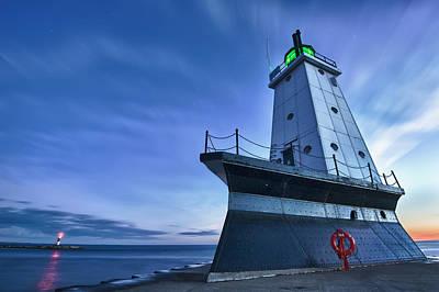 Ludington North Breakwater Lighthouse Poster by Sebastian Musial