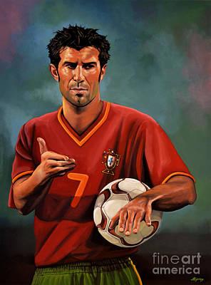 Luis Figo Poster by Paul Meijering