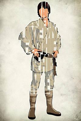 Luke Skywalker - Mark Hamill  Poster by Ayse Deniz