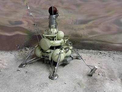 Luna 16 Lunar Space Probe Poster by Detlev Van Ravenswaay