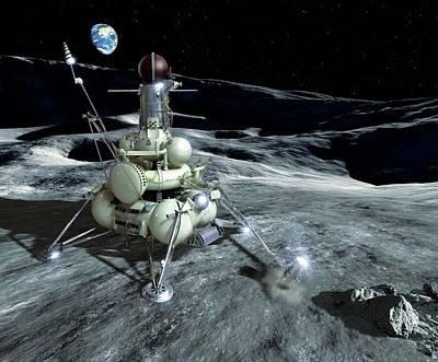 Luna 16 Probe Poster by Detlev Van Ravenswaay
