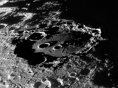 Lunar Crater Clavius At Sunrise Poster by Damian Peach