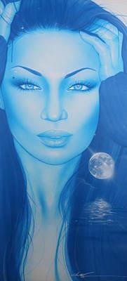Portrait - 'lunarium' Poster by Christian Chapman Art