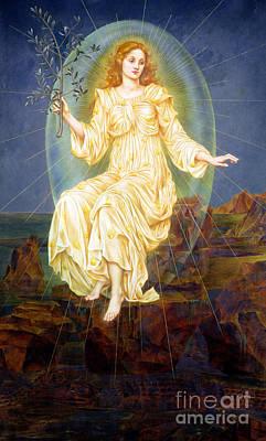 Lux In Tenebris Poster by Evelyn De Morgan