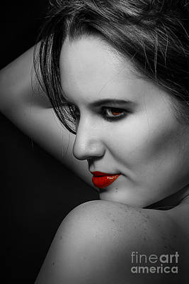 Luxury Woman Monochrome Poster by Aleksey Tugolukov