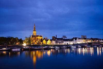 Maastricht Sint-martinuskerk And Maas River Poster by Marc Garrido