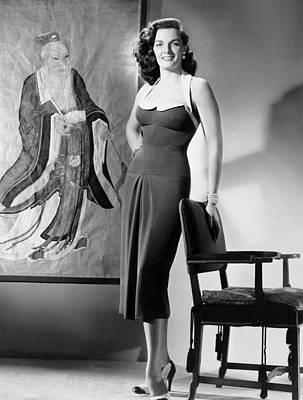 Macao, Jane Russell, In A Dress Poster by Everett