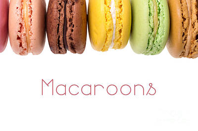 Macaroons Isolated Poster by Jane Rix