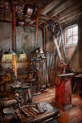 Machinist - The Modern Workshop  Poster by Mike Savad