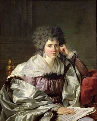 Madame Nicaise Perrin, Nee Catherine Deleuze Oil On Canvas Poster by Jean Charles Nicaise Perrin