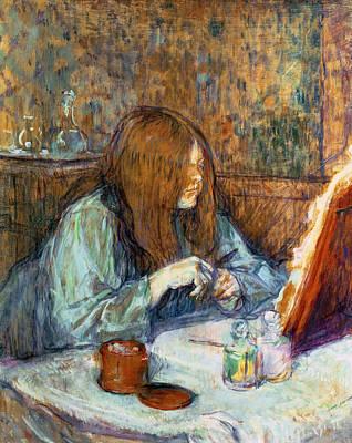 Madame Poupoule At Her Toilet Poster by Henri de Toulouse-Lautrec