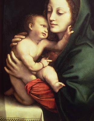 Madonna And Child Poster by Bernardino Luini